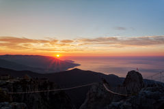 Beautiful sunrise over the Black Sea Royalty Free Stock Photos