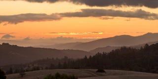Beautiful Sunrise over Coastal Central California Stock Photography
