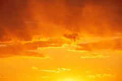Beautiful sunrise over the horizon Stock Image