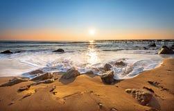 Beautiful sunrise over the horizon. Beautiful sunrise over the sea Stock Photography