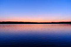 Beautiful Sunrise over Lake Stock Image