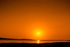 Beautiful sunrise over a lake Stock Photo