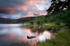 Beautiful sunrise over Llyn Gwynant in Snowdonia Stock Photos