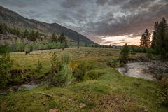 Sunrise over Buckeye Canyon in Eastern Sierra Royalty Free Stock Images