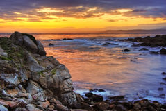 Beautiful Sunrise over Monterey Stock Photography