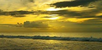 Beautiful sunrise. Over the ocean Stock Image