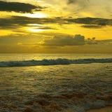 Beautiful sunrise. Over the ocean Royalty Free Stock Photos