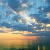 Beautiful sunrise. Over the ocean Stock Photos