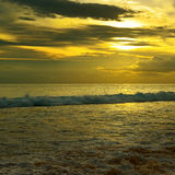Beautiful sunrise. Over the ocean Royalty Free Stock Image