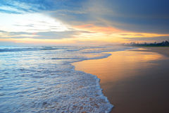 Beautiful sunrise. Over the ocean Royalty Free Stock Photo