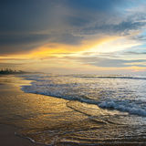 Beautiful sunrise. Over the ocean Stock Photography