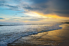 Beautiful sunrise. Over the ocean Stock Images