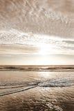 Beautiful sunrise over ocean horizon. Beautiful sunrise landscape, sun and clouds reflected in water. Jacksonville, Florida,USA Stock Image