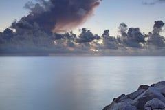 Beautiful sunrise over the ocean. Stock image of a beautiful sunrise over the Atlantic Ocean Stock Image