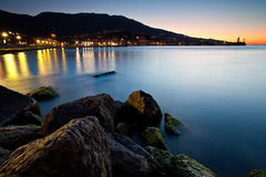 Beautiful sunrise over the sea. Ukraine, Black sea, Yalta Royalty Free Stock Image