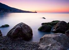 Beautiful sunrise over the sea Stock Photo