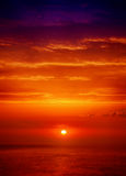 Beautiful sunrise over the sea Stock Photography
