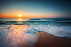 Beautiful sunrise over the sea Royalty Free Stock Image