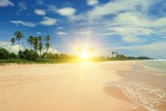 Beautiful sunrise over sea beach Royalty Free Stock Photo