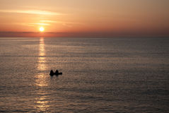 Beautiful sunrise over the sea in Bulgaria Royalty Free Stock Images