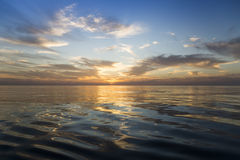 Beautiful sunrise over the sea. Stock Photos