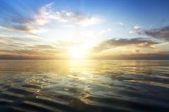Beautiful sunrise over the sea. Calm Stock Photo