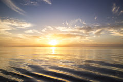 Beautiful sunrise over the sea. Stock Images
