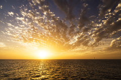 Beautiful sunrise over the sea. Royalty Free Stock Image