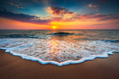 Beautiful sunrise over the sea Stock Image
