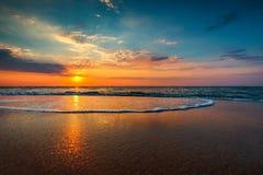 Beautiful sunrise over the sea Royalty Free Stock Photo