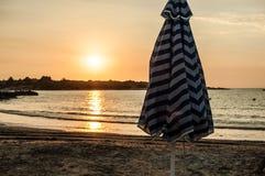Beautiful sunrise over the sea. In greece Royalty Free Stock Photo