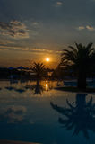 Beautiful sunrise over the sea. In greece Royalty Free Stock Photos