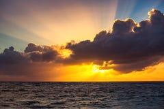 Beautiful sunrise over the sea. Beautiful sunrise over the horizon Stock Image