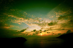 Beautiful sunrise over sea of Thailand Royalty Free Stock Images