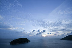 Beautiful sunrise over sea of Thailand Stock Images