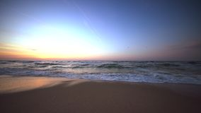 Beautiful sunrise over the sea water. Video stock video