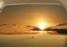 Beautiful sunrise over the sky. Royalty Free Stock Photography