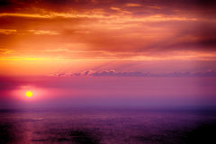 Beautiful Sunrise Over The Sea Royalty Free Stock Images