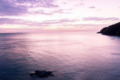 Beautiful sunrise over the tropical beach, andaman Sea, koh lant Royalty Free Stock Photo