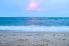 Beautiful sunrise over the tropical beach and sea in thailand Stock Image