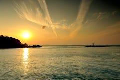Beautiful sunrise in Phuke Stock Photography