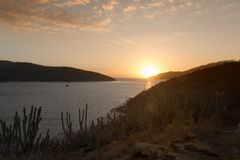 Arraial do Cabo, Cabo Frio, RJ, Brazil. A beautiful sunrise in Praia do Forno, Arraial do Cabo, RJ, Brazil Royalty Free Stock Photo