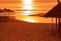 Beautiful sunrise on the shore of South China Sea. Stock Photos
