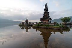 A beautiful sunrise at pura ulun danu bratan temple on Bratan lake, Bali, indonesia. A beautiful sunrise at pura ulun danu bratan temple on Bratan lake at Bali stock images