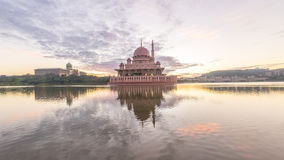 Beautiful sunrise At Putra Mosque, Putrajaya Malaysia with color Stock Images