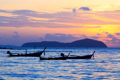 Beautiful sunrise in Rawai Phuket Stock Image