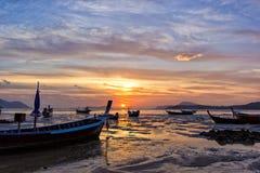 Beautiful sunrise in Rawai Phuket Stock Photo