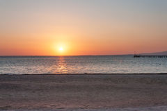 Beautiful sunrise on the Red Sea Stock Image