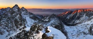 Beautiful sunrise in rocky mountain Stock Photo