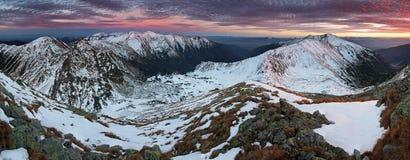 Beautiful sunrise in rocky mountain - West Tatras - Slovakia Royalty Free Stock Image